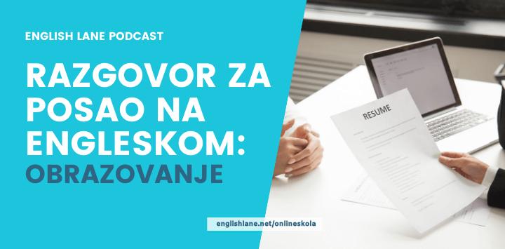 Razgovor za posao na engleskom: Obrazovanje